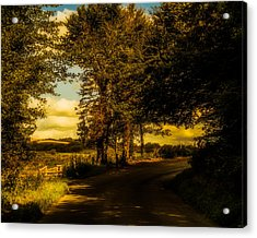 Acrylic Print featuring the photograph The Road To Litlington by Chris Lord