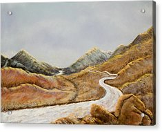 Acrylic Print featuring the painting The Road To Nowhere by Susan Culver