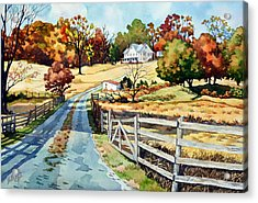 The Road To The Horse Farm Acrylic Print