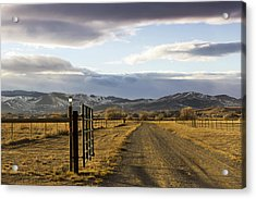 The Road To The Mountains Acrylic Print by Dana Moyer