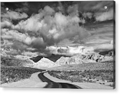 The Road To Turtlehead Peak Las Vegas Strip Nevada Red Rock Canyon Mojave Desert Acrylic Print by Silvio Ligutti
