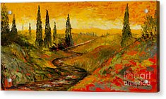 The Road To Tuscany Acrylic Print by Larry Martin