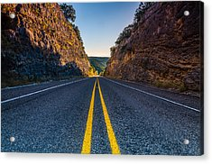 The Road To Utopia Acrylic Print by Jeffrey W Spencer
