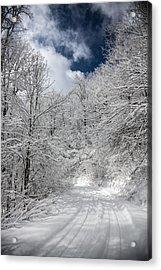 The Road To Winter Wonderland Acrylic Print by John Haldane