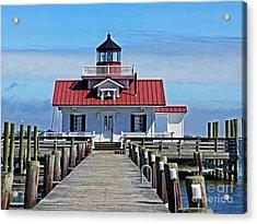 The Roanoke Marshes Lighthouse  Acrylic Print