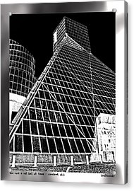 The Rock Hall Cleveland Acrylic Print by Kenneth Krolikowski