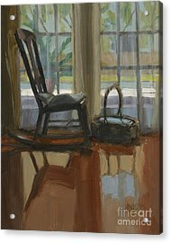 Acrylic Print featuring the painting The Rocker by Nancy  Parsons