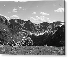 The Rockies Monochrome Acrylic Print