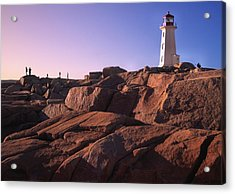 The Rocks At Peggy's Cove Acrylic Print