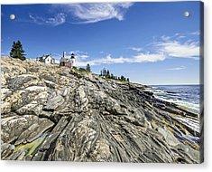 The Rocks At Pemaquid Point Maine Acrylic Print