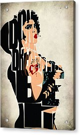 The Rocky Horror Picture Show - Dr. Frank-n-furter Acrylic Print by Ayse Deniz