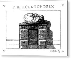 The Roll-top Desk Acrylic Print by Ann McCarthy