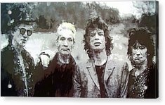 The Rolling Stones Acrylic Print by Daniel Hagerman