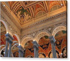 The Roof Above Jefferson's Books  Acrylic Print