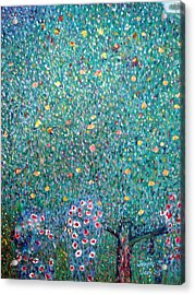 The Rose Bushes  Acrylic Print by Janpen Sherwood