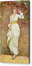 The Rose Acrylic Print by Edward Killingworth Johnson