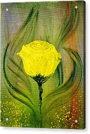 Acrylic Print featuring the painting The Rose by Evelina Popilian