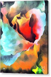 The Rose Flower Acrylic Print by Odon Czintos
