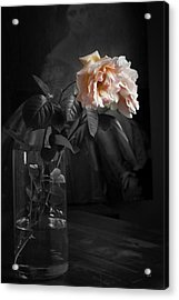 The Rose Grew Pale And Left Her Cheek Acrylic Print by Theresa Tahara