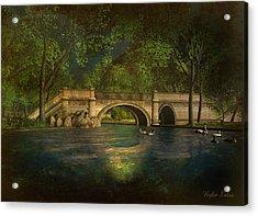 The Rose Pond Bridge 06301302 - By Kylie Sabra Acrylic Print by Kylie Sabra