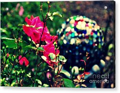 Acrylic Print featuring the photograph The Rose's Ball by Mindy Bench