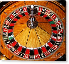 The Roulette Wheel Acrylic Print by Tom Conway