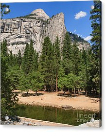 The Royal Arches And North Dome -- Scene From A Bridge Acrylic Print by Charles Kozierok
