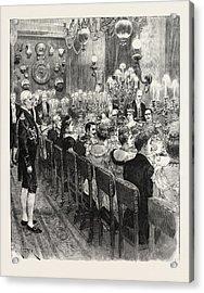 The Royal Marriage At Berlin, Germany Banquet At The Royal Acrylic Print