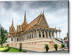 The Royal Palace And Silver Pagoda In Acrylic Print