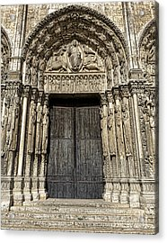 The Royal Portal At Chartres Acrylic Print by Olivier Le Queinec