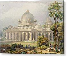 The Roza At Mehmoodabad In Guzerat, Or Acrylic Print by Captain Robert M. Grindlay