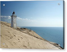 The Rubjerg Lighthouse Acrylic Print by Robert Lacy