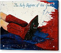 The Ruby Slippers Of The South Acrylic Print by Debi Starr