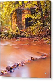 The Ruins Of An Old Mill Acrylic Print