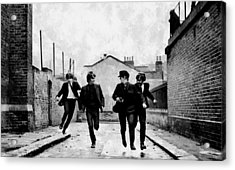 The Running Beatles Acrylic Print