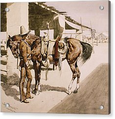 The Rural Guard Mexico Acrylic Print by Frederic Remington