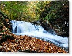 The Rushing Waterfall Acrylic Print