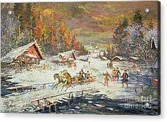 The Russian Winter Acrylic Print by Konstantin Korovin