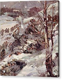 The Russians Fighting Their Way Over The Carpathians Acrylic Print by Cyrus Cuneo