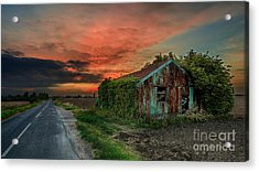 The Rustic Barn Acrylic Print by Pete Reynolds