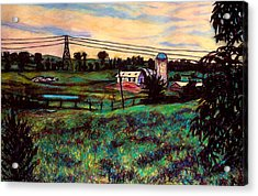 The Rusty Silo Acrylic Print by Kendall Kessler