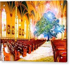 The Sacred World Acrylic Print by Mark E Tisdale