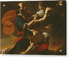 The Sacrifice Of Isaac, 1613 Oil On Canvas Acrylic Print by Mattia Preti