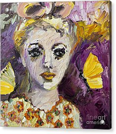 The Sadness In Her Eyes Acrylic Print by Ginette Callaway