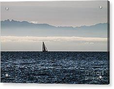 The Sail Boat Horizon Acrylic Print by Arlene Sundby