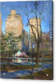The Sailboat Pond In Central Park Acrylic Print