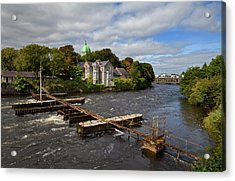 The Salmon Weir On The River Acrylic Print by Panoramic Images