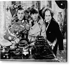 The Salute Acrylic Print by The Three Stooges