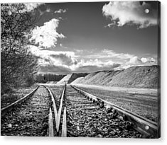 Acrylic Print featuring the photograph The Sand Quarry Tracks. by Gary Gillette