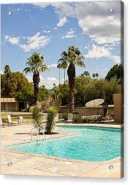 The Sandpiper Pool Palm Desert Acrylic Print by William Dey